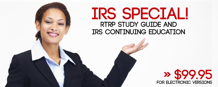 RTRP Study Guide and IRS Continuing Education Combo